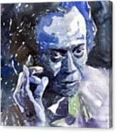 Jazz Miles Davis 11 Blue Canvas Print
