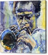 Jazz Miles Davis 12 Canvas Print