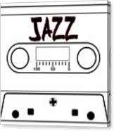 Jazz Music Tape Cassette Canvas Print