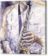 Jazz Muza Saxophon Canvas Print