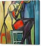 Jazz Trumpet Player Canvas Print
