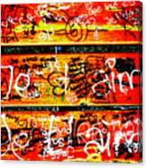 Je T'aime Love Bench Canvas Print