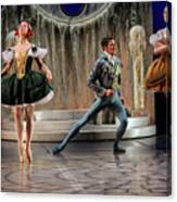 Jealous Stepsister Ballerinas En Pointe With Guests At The Ball  Canvas Print