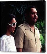 Jean-claude Duvalier And Michelle Bennett Canvas Print