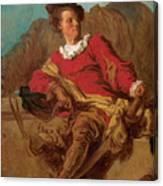 Jean-claude Richard Abbe Of Saint-non Canvas Print