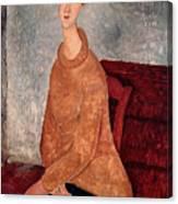Jeanne Hebuterne In A Yellow Jumper Canvas Print