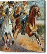 Jeb Stuarts Cavalry 1862 Canvas Print