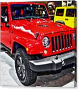Jeep Wrangler X Canvas Print