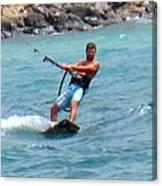Jeff Kite Surfer Canvas Print