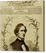 Jefferson Davis 1808-1889, First Canvas Print