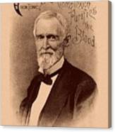 Jefferson Davis Vintage Advertisement Canvas Print