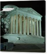 Jefferson Memorial At Night Canvas Print