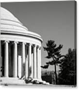 Jefferson Memorial Building In Washington Dc Canvas Print