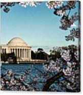 Jefferson Memorial In Spring Canvas Print