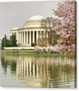Jefferson Memorial Reflection I Canvas Print