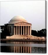 Jefferson Monument After Sunset Canvas Print