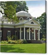 Jeffersons Monticello Canvas Print