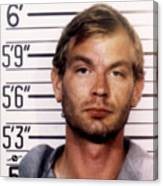 Jeffrey Dahmer Mug Shot 1991 Square  Canvas Print
