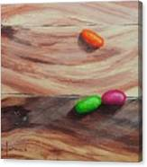 Jelly Beans On Wood Canvas Print