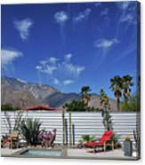 Jelly Fish Clouds In Palm Springs I Canvas Print