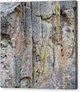Jenn Krogue Climbs A Route Called Thin Slice Which Is Rated 5.10 Canvas Print
