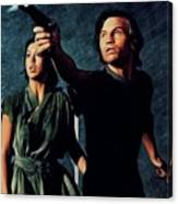 Jenny Agutter And Michael York, Logan's Run Canvas Print