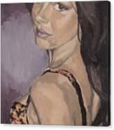 Jenny In Black Canvas Print