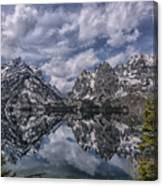 Jenny Lake And The Cathedral Canvas Print