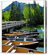 Jenny Lake Boats Canvas Print