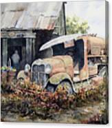 Jeromes Tank Truck Canvas Print