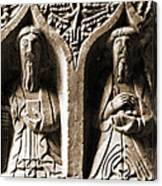 Jerpoint Abbey Irish Tomb Weepers Saints County Kilkenny Ireland Sepia Canvas Print