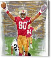 Jerry Rice The Greatest Canvas Print