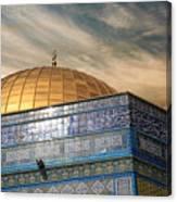 Jerusalem - Dome Of The Rock Sky Canvas Print