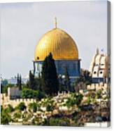 Jerusalem Dome Of The Rock  Canvas Print