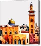Jerusalem Domes And Minarets Canvas Print