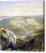 Jerusalem From The South Canvas Print