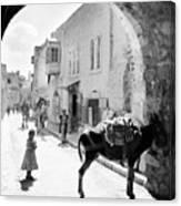 Jerusalem Street In 1914 Canvas Print