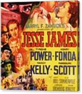 Jesse James 1939 Canvas Print