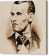 Jesse James Canvas Print