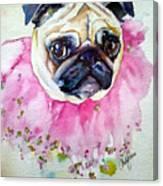 Jester Pug Canvas Print