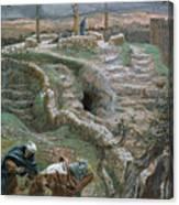 Jesus Alone On The Cross Canvas Print
