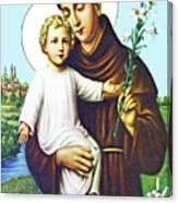 Jesus And Saint Anthony Canvas Print