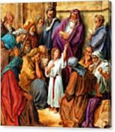Jesus As A Child Canvas Print