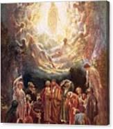 Jesus Ascending Into Heaven Canvas Print