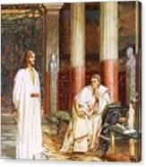 Jesus Being Interviewed Privately Canvas Print