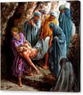 Jesus Burial Canvas Print