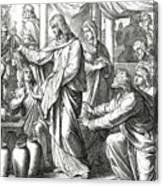 Jesus Changes Water Into Wine, Gospel Of John Canvas Print