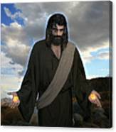 Jesus Christ- And He Withdrew Himself Into The Wilderness And Prayed Canvas Print