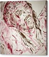 Jesus Crucified Canvas Print