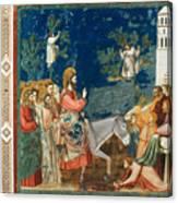 Jesus Entering Jerusalem Canvas Print
